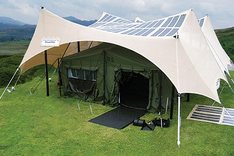 Powerfilm PowerShade 2 kW Solar Field Shelter